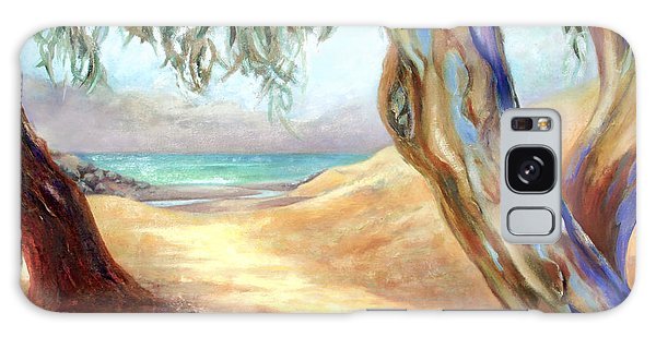 Eucalyptus Beach Trail Galaxy Case by Michael Rock