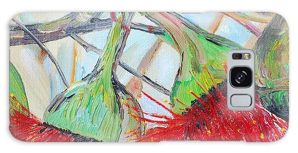 Eucalyptus Flowers Galaxy Case by Reina Resto