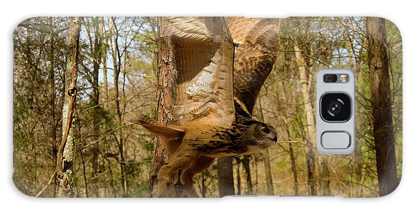 Eurasian Eagle Owl In Flight Galaxy Case