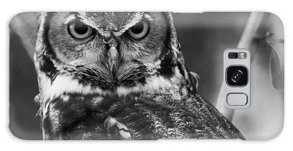 Eurasian Eagle Owl Monochrome Galaxy Case