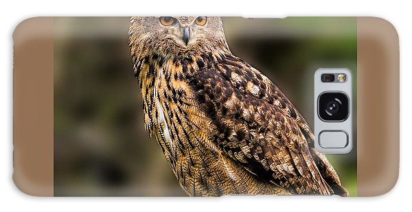 Eurasian Eagle Owl With A Cowboy Hat Galaxy Case