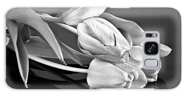 Even Tulips Are Beautiful In Black And White Galaxy Case by Sherry Hallemeier