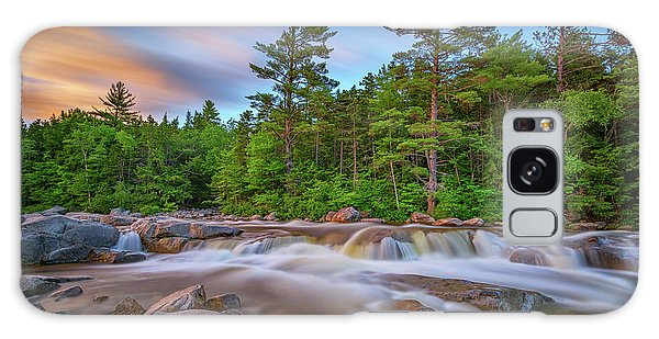 White Mountain National Forest Galaxy Case - Evening At Lower Falls by Rick Berk