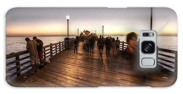 Evening At Oceanside Pier Galaxy Case