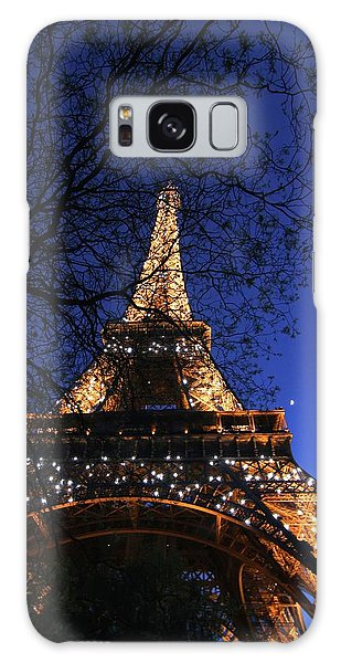 Evening At The Eiffel Tower Galaxy Case by Heidi Hermes