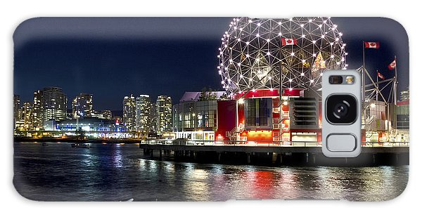 Evening By Science World Vancouver Galaxy Case