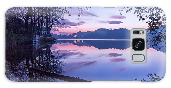 Evening By The Lake Galaxy Case