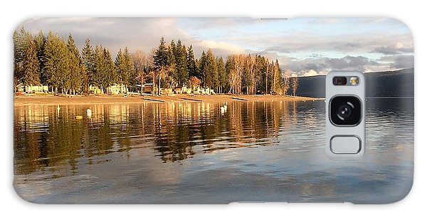 Evening By The Lake Galaxy Case by Victor K