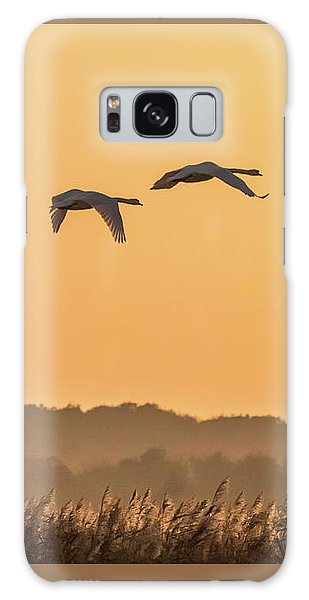 Evening Flight Home Galaxy Case