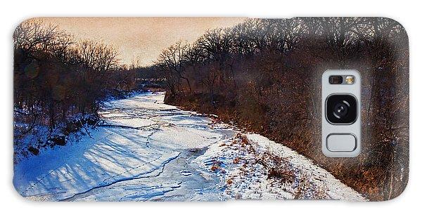 Evening Frozen Creek Galaxy Case