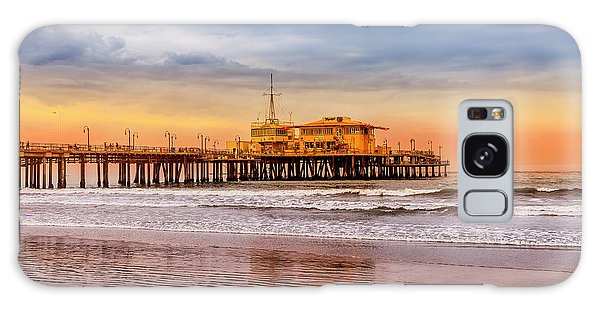 Evening Glow At The Pier Galaxy Case
