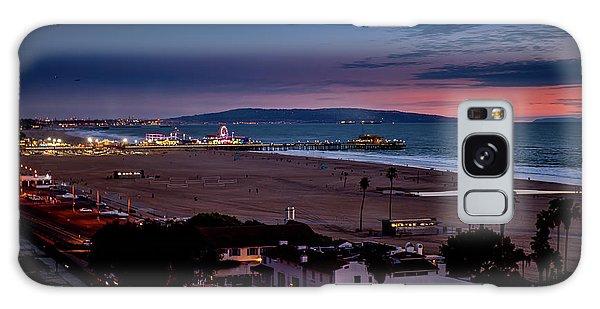 Evening Glow On The Pier Galaxy Case