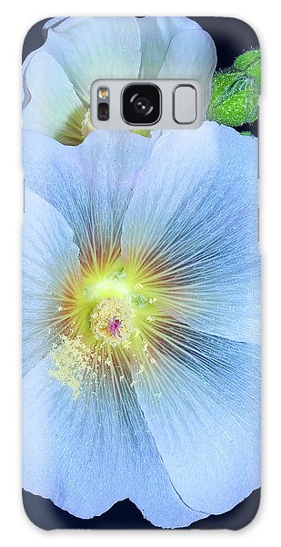 Evening Hollyhock Galaxy Case