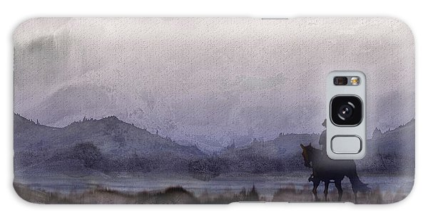 Evening Horseback Ride Galaxy Case by Judy Filarecki