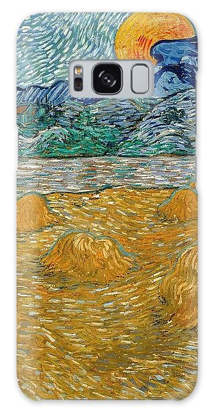 Galaxy Case featuring the painting Evening Landscape With Rising Moon by Van Gogh