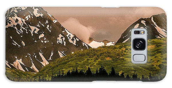 Evening Light Kenai Peninsula Galaxy Case