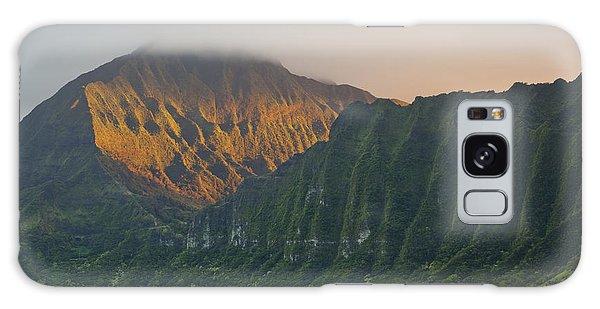 Evening Light On Ko'olau Mountains Galaxy Case