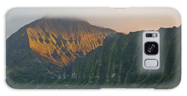 Evening Light On Ko'olau Mountains Galaxy Case