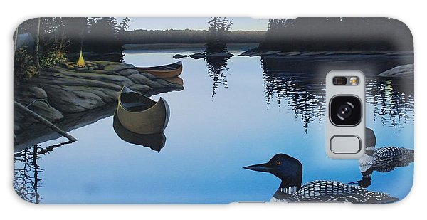 Evening Loons Galaxy Case