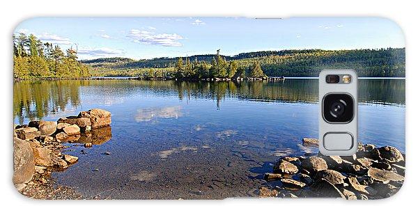 Evening On Cedar Lagoon Pine Lake Galaxy Case by Larry Ricker