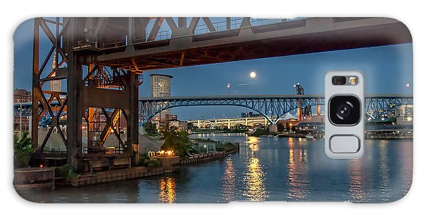 Evening On The Cuyahoga River Galaxy Case by Brent Durken