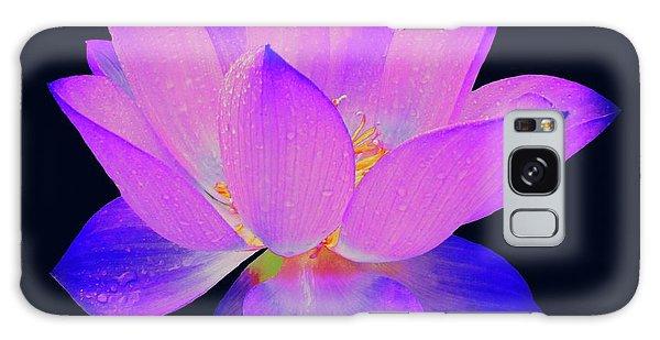 Evening Purple Lotus  Galaxy Case
