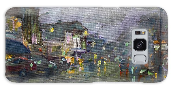 Evening Galaxy Case - Evening Rain At Webster St by Ylli Haruni