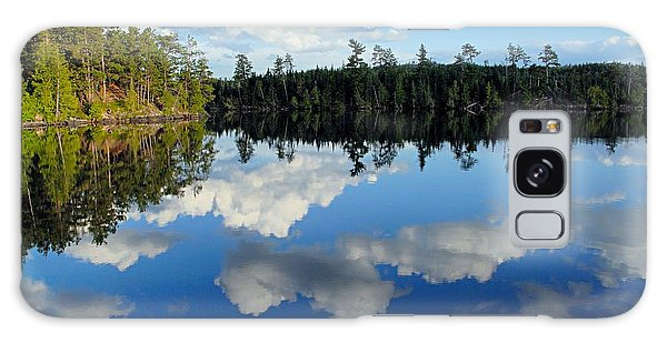 Evening Reflections On Spoon Lake Galaxy Case by Larry Ricker