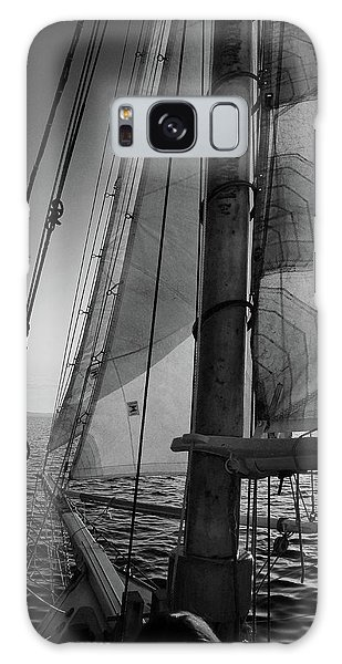 Evening Sail Bw Galaxy Case