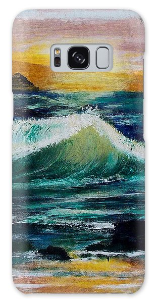 Evening Seascape 1 Galaxy Case