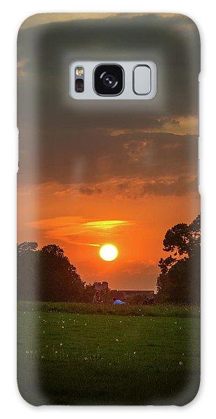 Evening Sun Over Picnic Galaxy Case