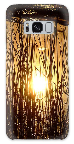 Evening Sunset Over Water Galaxy Case
