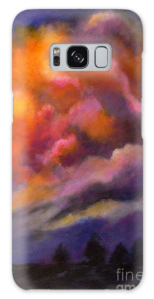 Evening Symphony Galaxy Case by Alison Caltrider
