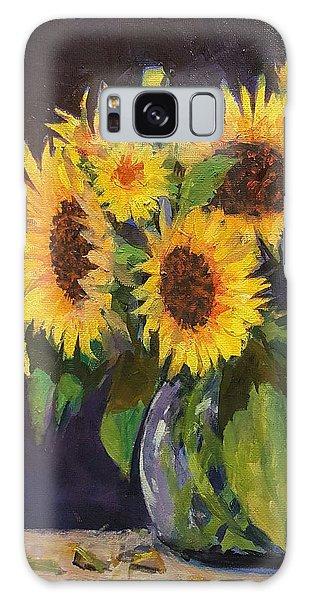 Evening Table Sun Flowers Galaxy Case