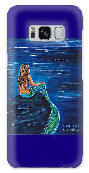 Evening Tide Mermaid Galaxy Case by Leslie Allen