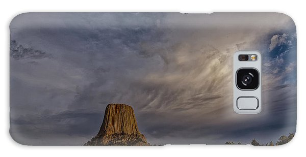 Evening Time At Devils Tower Galaxy Case