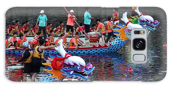 Evening Time Dragon Boat Races In Taiwan Galaxy Case