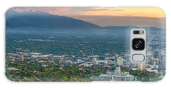 Evening View Of Salt Lake City From Ensign Peak Galaxy Case