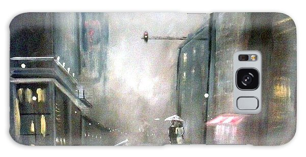 Evening Walk In The Rain Galaxy Case by Raymond Doward