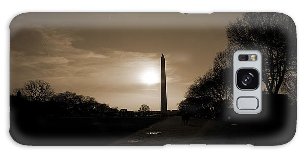 Washington Monument Galaxy S8 Case - Evening Washington Monument Silhouette by Betsy Knapp
