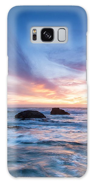 Evening Waves Galaxy Case