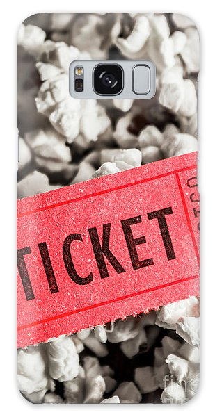 Pass Galaxy Case - Event Ticket Lying On Pile Of Popcorn by Jorgo Photography - Wall Art Gallery