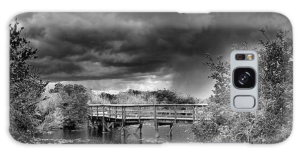 Board Walk Galaxy Case - Everglades 0823bw by Rudy Umans