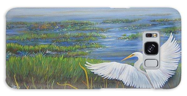 Everglades Egret Galaxy Case