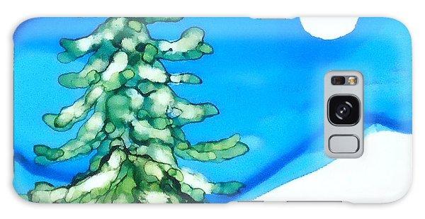 Evergreen Tree In Winter Galaxy Case