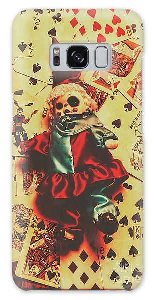 Evil Clown Doll On Playing Cards Galaxy Case