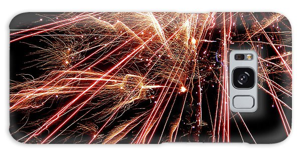 Galaxy Case featuring the photograph Exciting Fireworks #0734 by Barbara Tristan
