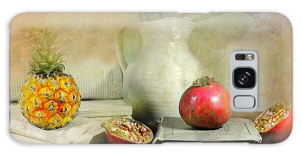 Vase Of Flowers Galaxy Case - The Bookeeper by Diana Angstadt