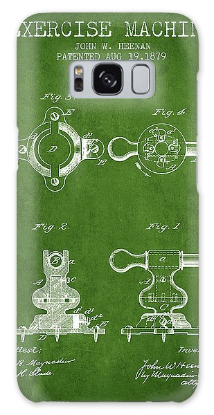 Workout Galaxy Case - Exercise Machine Patent From 1879 - Green by Aged Pixel