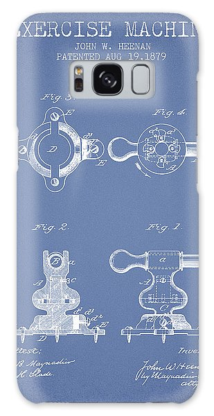 Workout Galaxy Case - Exercise Machine Patent From 1879 - Light Blue by Aged Pixel